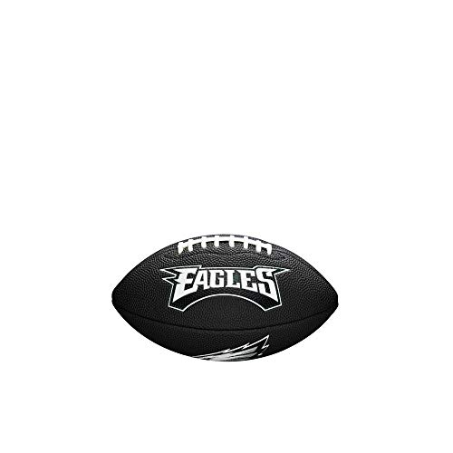 Wilson Unisex-Youth MINI NFL TEAM SOFT TOUCH FB BL PH American Football, BLACK,