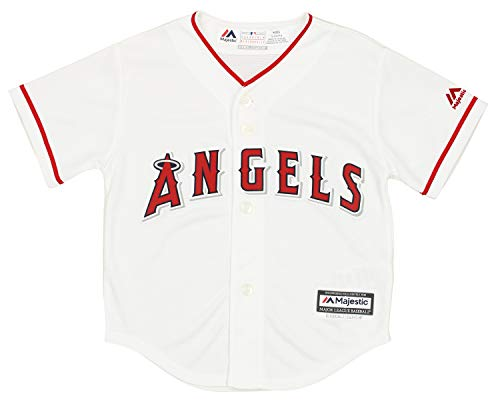 Outerstuff MLB Little Boys Los Angeles Angels Team Finished Home Replica Jersey, Medium