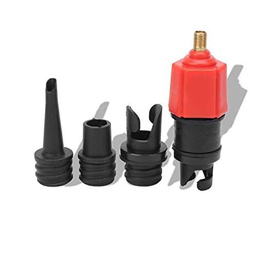 Adaptador de bomba SUP, convertidor de válvula SUP de sellado fuerte, convertidor de válvula de aire de operación simple a prueba de fugas, para la mayoría de las tablas de remo, bote inflable