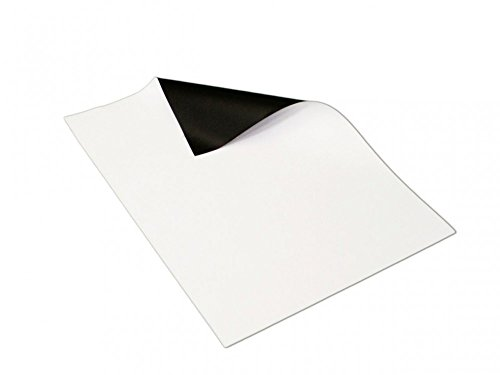 Magnetfolie weiß matt beschichtet DIN A4 Format - 210 x 297 x 0,8mm - flexibel, mit Digitaldruck bedruckbar, haftet auf allen metallischen Oberflächen