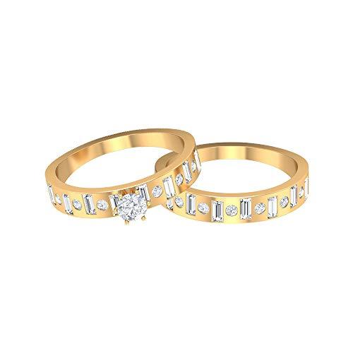 Rosec Jewels 14 quilates oro amarillo round-brilliant-shape baguette-shape H-I Diamond