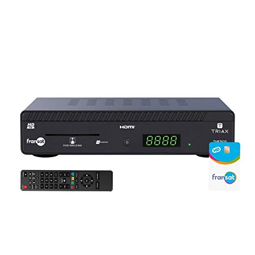 Triax THR 7610 Satelliten Receiver HD Eutelsat 5 W + Karte FRANSAT PC6 gültig Lebenslang
