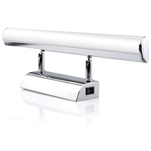 Bonlux 7W 700 Lumen LED Lampe Miroir Salle de Bain Applique Murale Lumière de Maquillage Cosmétique pour Photo Armoire Toilette Etanche IP45 120 degrés Blanc Froid 6000K Angle réglable(Type A, 43cm)
