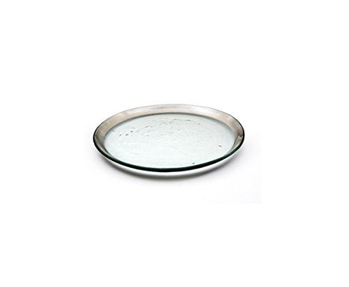 Annie Glass Roman Antique 8 ¾ Salad Plate Platinum