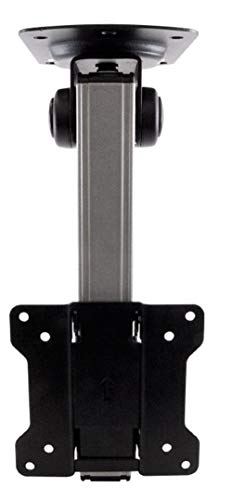 Monoprice 116122 Under Cabinet Tilt TV Wall Mount Bracket - For TVs Up to 27in Max Weight 44lbs VESA Patterns Up to 100x100
