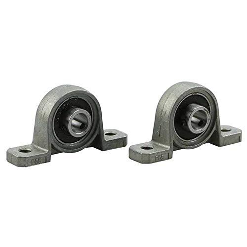 Sin polea LMY, 2 unidades de diámetro de 8 mm, cojinete de bloque de cojinetes de aleación de zinc, cojinete de cojinete de cojinete de cojinete montado, 8 mm