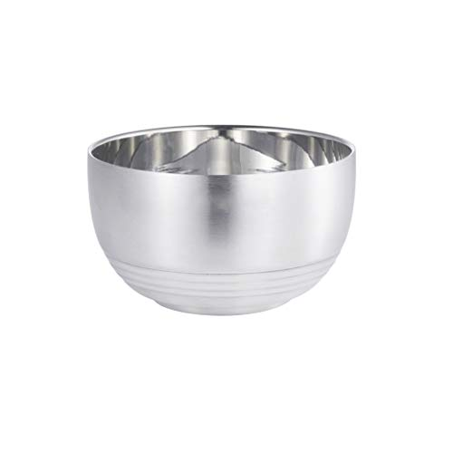 28GRJ Large Stainless Steel Bowls, Premium Stainless Steel Mixing Bowls For Healthy Meal Mixing And Prepping, Double Walled Heat Insulated Bowls GRJ (Size : A 14CM)