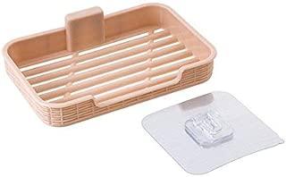 Elegant soap Box Plastic Free Punching Drain soap Box Suction Wall soap Holder Bathroom Creative soap Tray soap Rack soap Box Nordic Green (Color : Khaki)