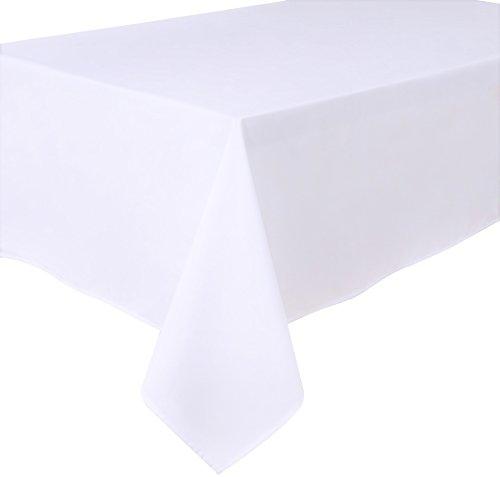 Mantel antimanchas, poliéster, rectangular 140 x 240cm Blanco