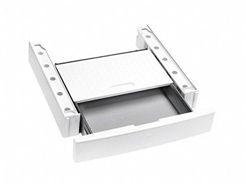 Miele Original Zubehör WTV 512 Wasch-Trocken-Verbindungssatz / für sichere und platzsparende Aufstellung einer Wasch-Trocken-Säule / integrierte Schublade / 12 cm hoch / Lotosweiß