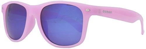 Ocean Sunglasses - Beach wayfarer - lunettes de soleil polarisées - Monture : Blanc/Bleu Transparent - Verres : Revo Bleu (18202.24)