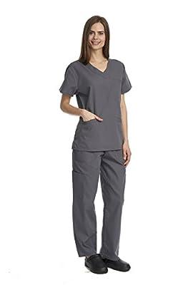 Denice Medical Uniforms For Women Medical Clothing Scrubs Triple Pocket Set 1050