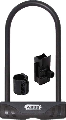 ABUS Bügelschloss Facilo 32/150HB230 + USH32-Halterung - Fahrradschloss mit Double-Locking - ABUS-Sicherheitslevel 7 - Schwarz