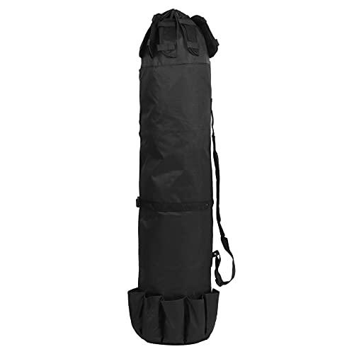 Bolsa de caña de pescar multifunción portátil, bolsa de almacenamiento de herramientas de aparejos de pesca plegable, organizador de aparejos de pesca, bolsa organizadora de caña (negro)