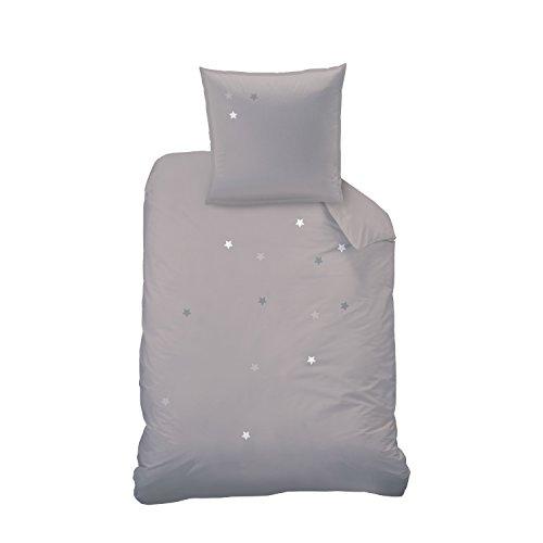 Matt & Rose Parure de lit, Coton, Gris, 155 x 220 cm, de 2 unités