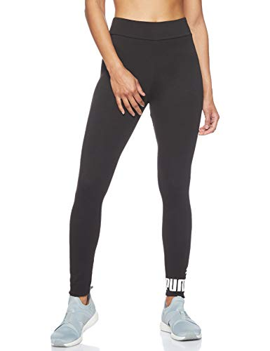 Puma Ess Logo Leggings, Pantaloni Donna, Cotton Black, M