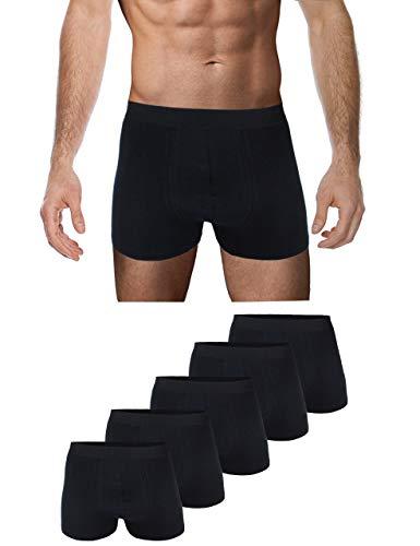Garcia Pescara ® Men Herren Sports Unterhosen 10er Pack Boxershorts Baumwolle Männer S M L XL XXL 3XL 4XL (XL, Schwarz) …
