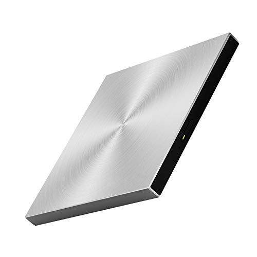 DVD Writer, External DVD Drive USB 3.0 BD CD DVD Burner Player Writer Reader for Mac OS Windows 7/8.1/10/Linxus,Laptop,PC,Silver