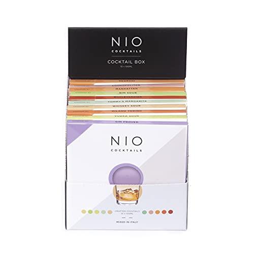 NIO Cocktails - Box Degustazione Da 10 Cocktail Misti - 10 drink pronti da bere a domicilio