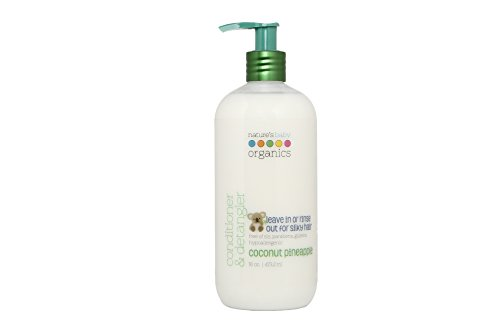 Nature's Baby Organics Conditioner & Detangler for Hair & Skin, Vanilla Tangerine, 8 oz | Babies, Kids, Adults! Natural, Moisturizing, Gentle, Rich, Hypoallergenic | Natural & Organic| No Synthetic