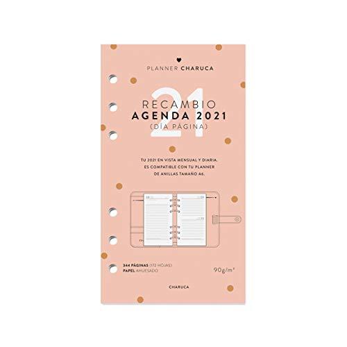 Recambio agenda 2021. Vista diaria. A6