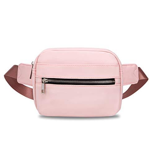 Wind Took Damen Herren Brusttasche Gürteltasche Bauchtasche Hüfttasche Handytasche Mode für Reise Wanderung Outdoor Alltag Freizeit Party, Pink, 20 x 6 x 14CM