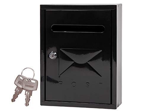 Alsino, BRK-66011, brievenbus met sleutel, wandbrievenbus stalen brievenbus met poedercoating, inclusief montagemateriaal