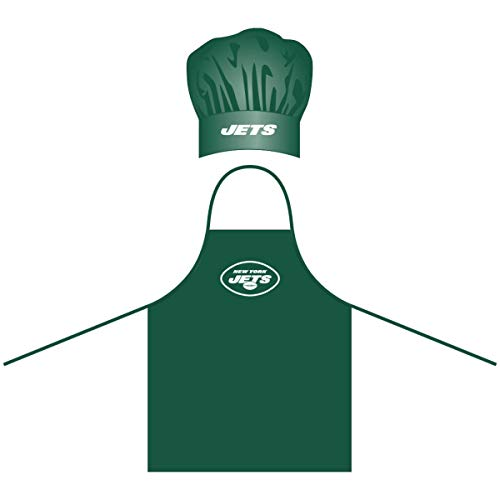 NFL New York Jets Chef Hat and Apron Set, Green, One Size