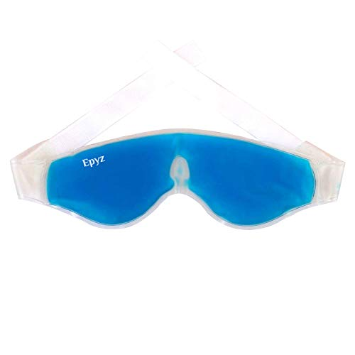 Epyz Relaxing Gel Eye Mask with Strap-on Cooling Relaxation for Tired Eyes, (Pack Of 1,Blue)