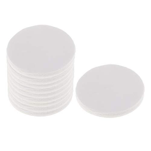 Sharplace 100 Stücke Runde Mikrowelle Ofen Papier Keramikfaserpapier Glas Fusing Papier Keramik