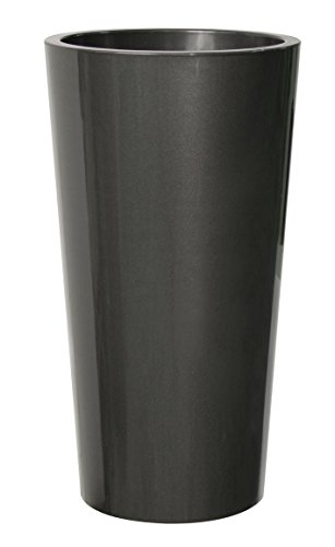 Euro3Plast 2785 Pflanztopf Tuit Durchmesser 33 cm, anthrazit