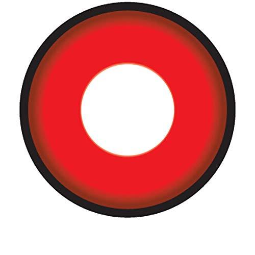 Matlens - Crazy Fun Motiv Cosplay Farbige Naruto Sharingan Kontaktlinsen serie Itachi Uchiha Mangekyou rot CP-S7 2 Linsen 1 Kontaktlinsenbehälter 1 Pflegemittel 50ml FBA