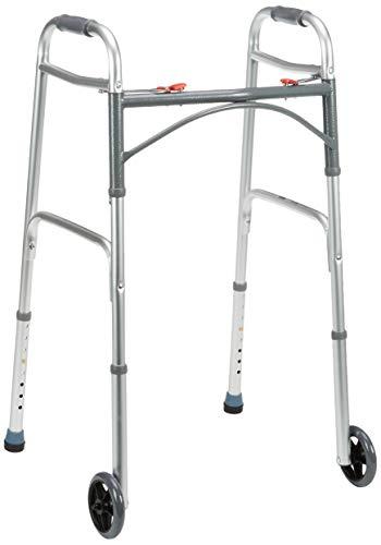 Drive Medical WA009 - Andador plegable con ruedas delanteras
