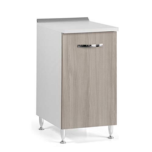 Mobile Base Con Anta Per Cucina Colore Olmo Cm 40x50xh 85 1 Anta