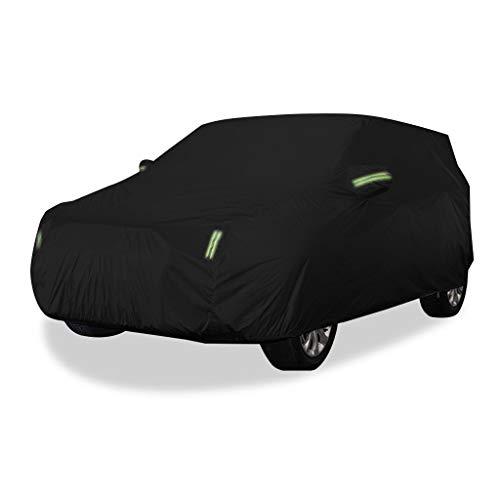 Couverture de voiture Compatible avec Land Rover Car Cover Car Clothing épais Oxford Tissu Sun Protection Rain Cover Car Cloth Car Cover Car Cover (Couleur : Noir)