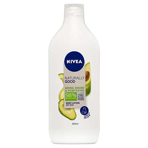 NIVEA NIVEA BODY Naturally Good Avocado Body Lotion & Pampering Moisturiser for Dry Skin, 98% Natural Ingredients & Recycled Plastic Bottle, 350ml, 350 ml