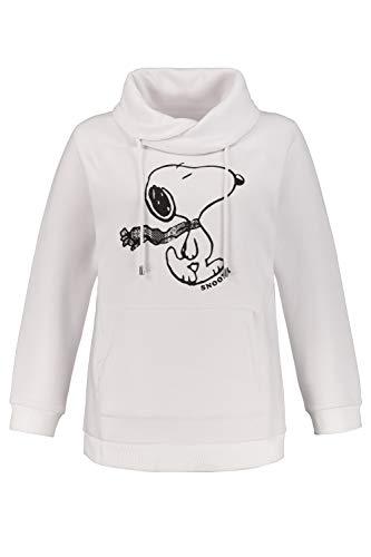 Ulla Popken Damen große Größen Sweatshirt Offwhite 50/52 725929 21-50+