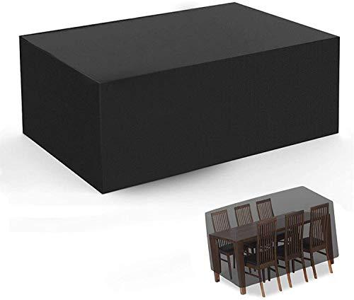 ZXCVB Responente para lágrimas para el Juego de Muebles de jardín, Cubierta de Mesa al Aire Libre, Toalla Protectora Rectangular a Prueba de Viento/UV/Impermeable para Mesa y sillas al Aire Libre