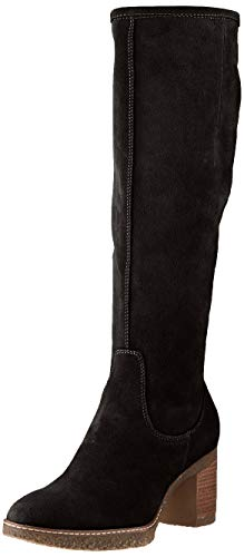 Tamaris Damen 1-1-25563-25 Kniehohe Stiefel, schwarz, 39 EU