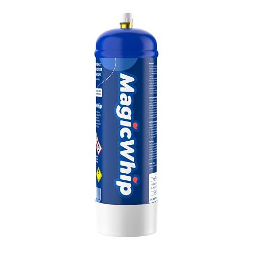 MagicWhip 580g N2O Einweg Zylinder für Sahnespender-580g Zylinder ist gleich 75 Sahnekapseln, 100prozent Recyclebare Hoch Wertiger Edel Stahl Zylinder für Sahnebereiter