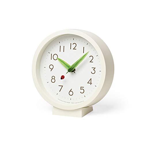 Reloj de mesa El reloj de escritorio con estilo redondo blanco de 6.3 pulgadas, números grandes, son fáciles de leer adecuados para cualquier habitación en un restaurante familiar Reloj de estante