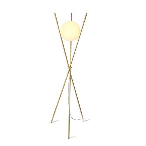 QTDH Staande lamp voor op het bureau, met glazen bol, standlicht, energiebesparende torchiere vloerlampen voor slaapkamer, woonkamer, lezen en werken