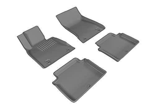 3D MAXpider Allwetter-Fußmatten für Genesis G80 RWD 2017-2020 passgenau Auto Bodeneinlagen, Kagu Serie (1. & 2. Reihe, grau)