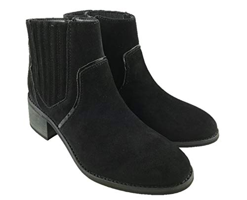 Ladies Faux Suede Cowboy Ankle Boots Block Heel Inside Zip Size UK 3-9 (5...