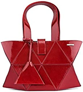 Kaizer KI1808MARR Leather Shoulder Bag for Women - Maroon