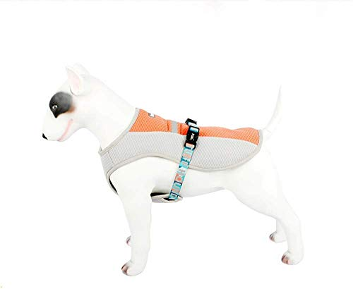 Dog Cooling Clothes Vest Harness Pet Hunting Coat Side Straps and Highly Visible Reflective Padding Best for Small Medium Large Dogs,Green,S