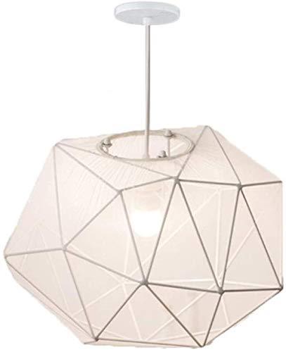 Modern Stoff Geometrische Kronleuchter Einfaches personifiziertes Metall Anhänger Restaurant/Schlafzimmer/Innenbeleuchtung LED-Deckenleuchte 220 / 240V E27 (weiß)