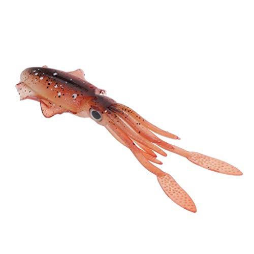 T TOOYFUL 1x Gonna per Calamari in Plastica Morbida Realistica Artificiale Esca Polpo Pesca A Traina 15,3 Cm - Un