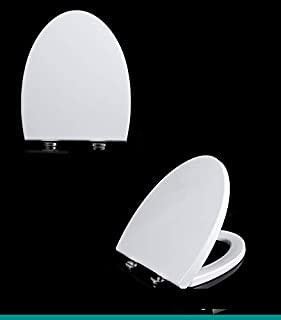 V Shape Thick Toilet Seat Soft Close Luxury White Heavy Duty Quick Release AU B4A2