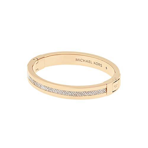 Michael Kors Brilliance Gold-Tone and Pavé Hinged Bangle Bracelet, 2.5